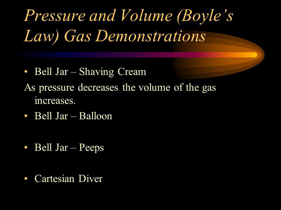 Pressure and Volume (Boyle's Law) Gas Demonstrations