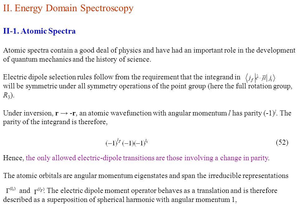 II. Energy Domain Spectroscopy