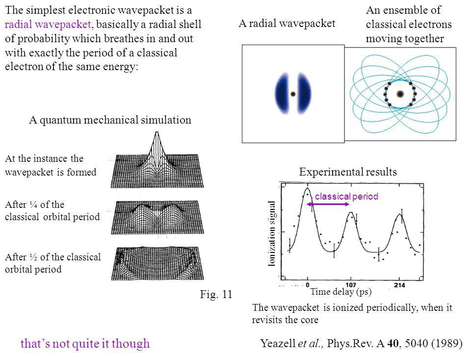 A quantum mechanical simulation