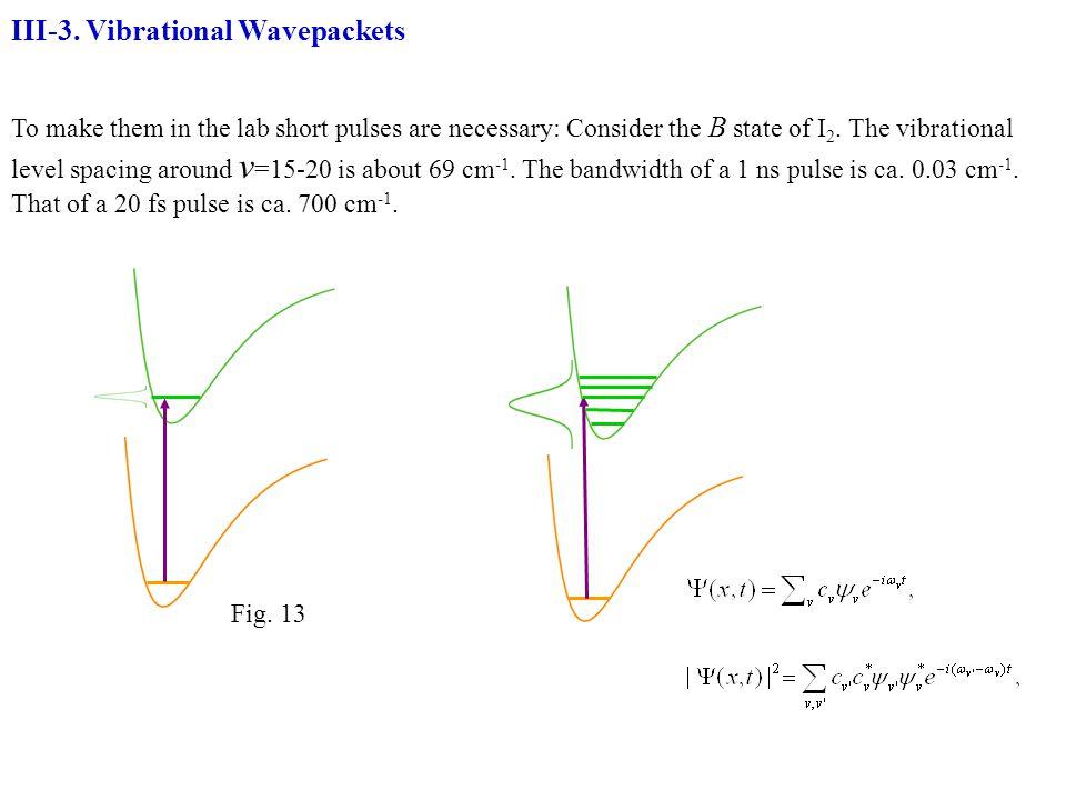 III-3. Vibrational Wavepackets