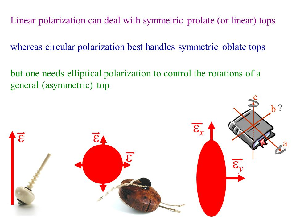 Linear polarization can deal with symmetric prolate (or linear) tops