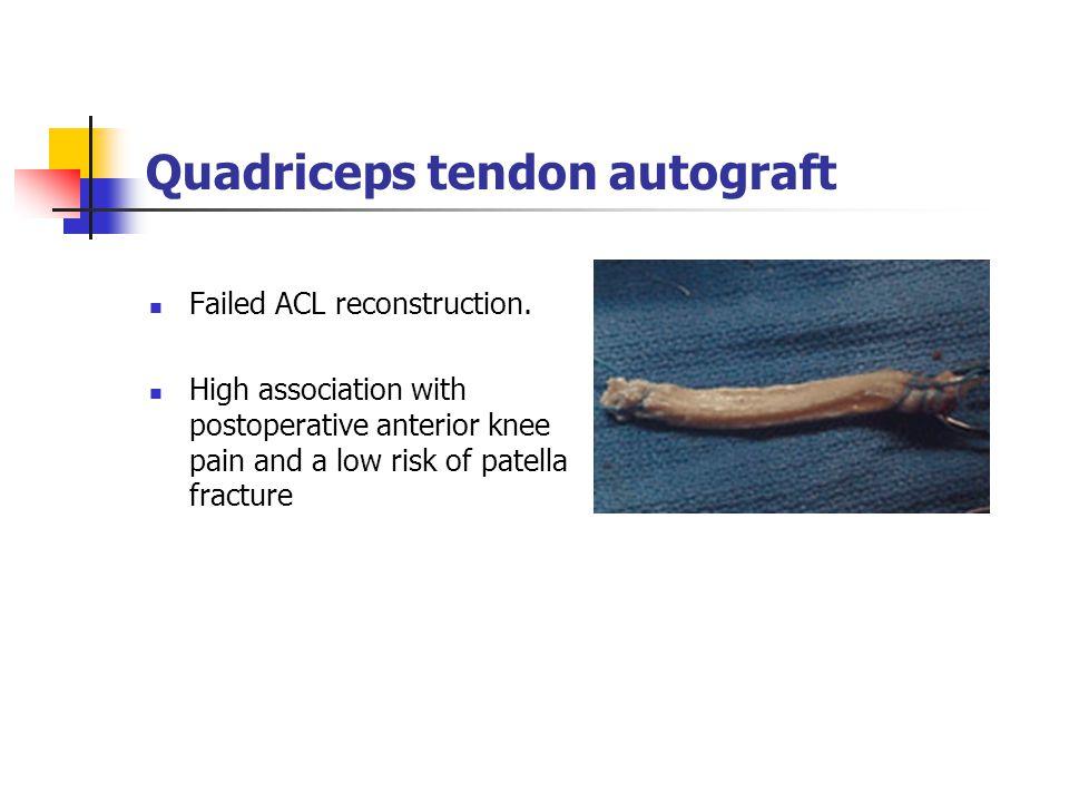 Quadriceps tendon autograft