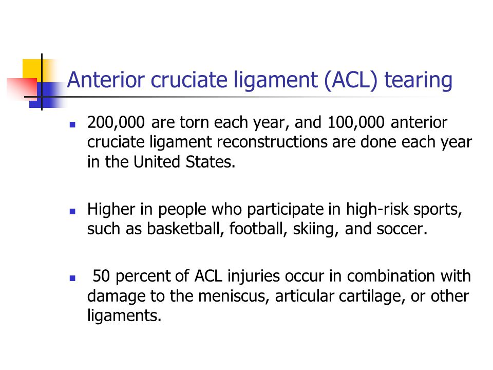 Anterior cruciate ligament (ACL) tearing