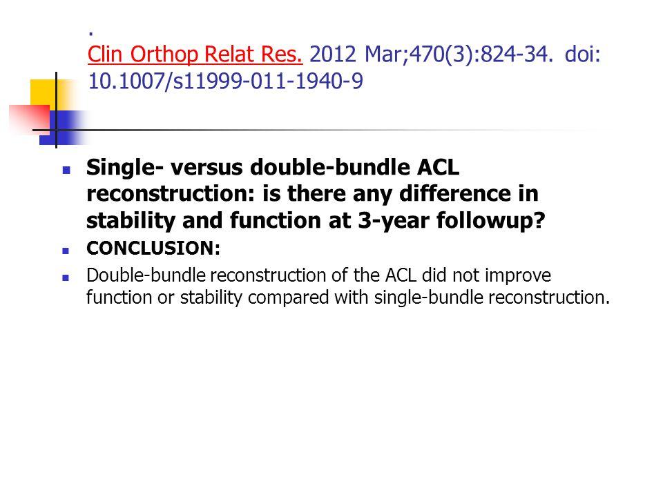 Clin Orthop Relat Res. 2012 Mar;470(3):824-34. doi: 10