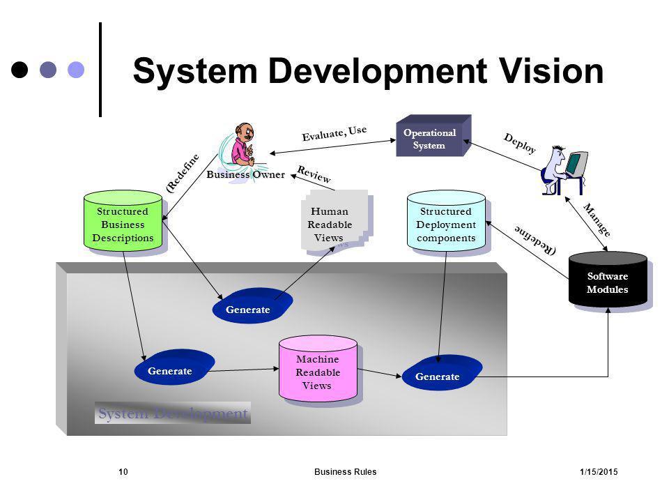 System Development Vision