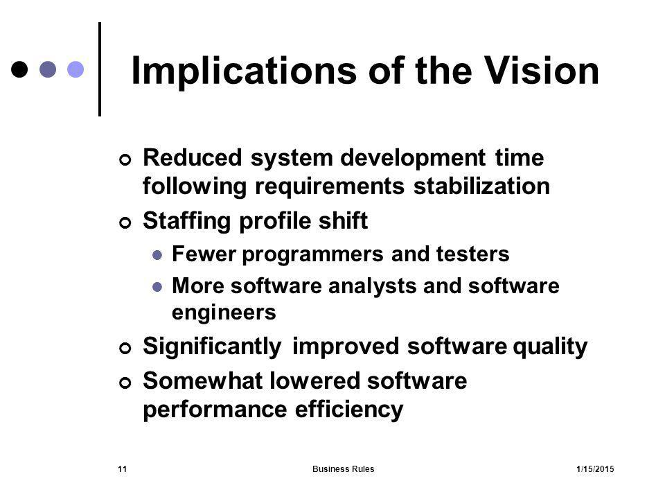 Implications of the Vision