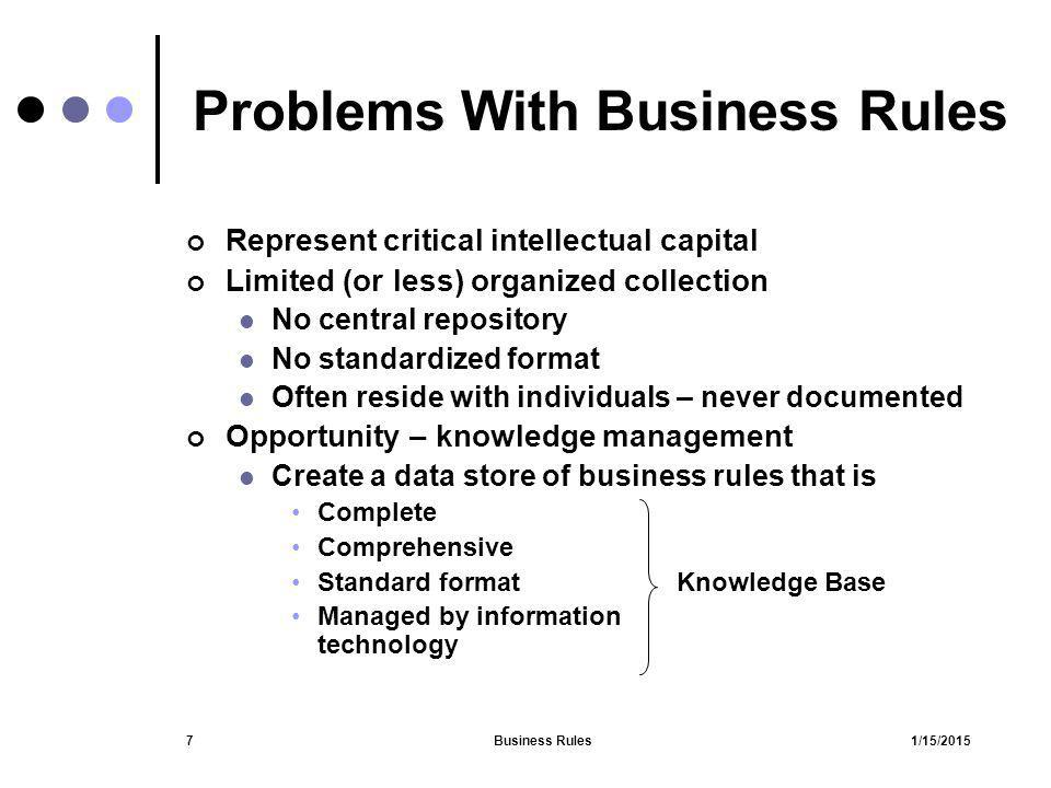 Problems With Business Rules