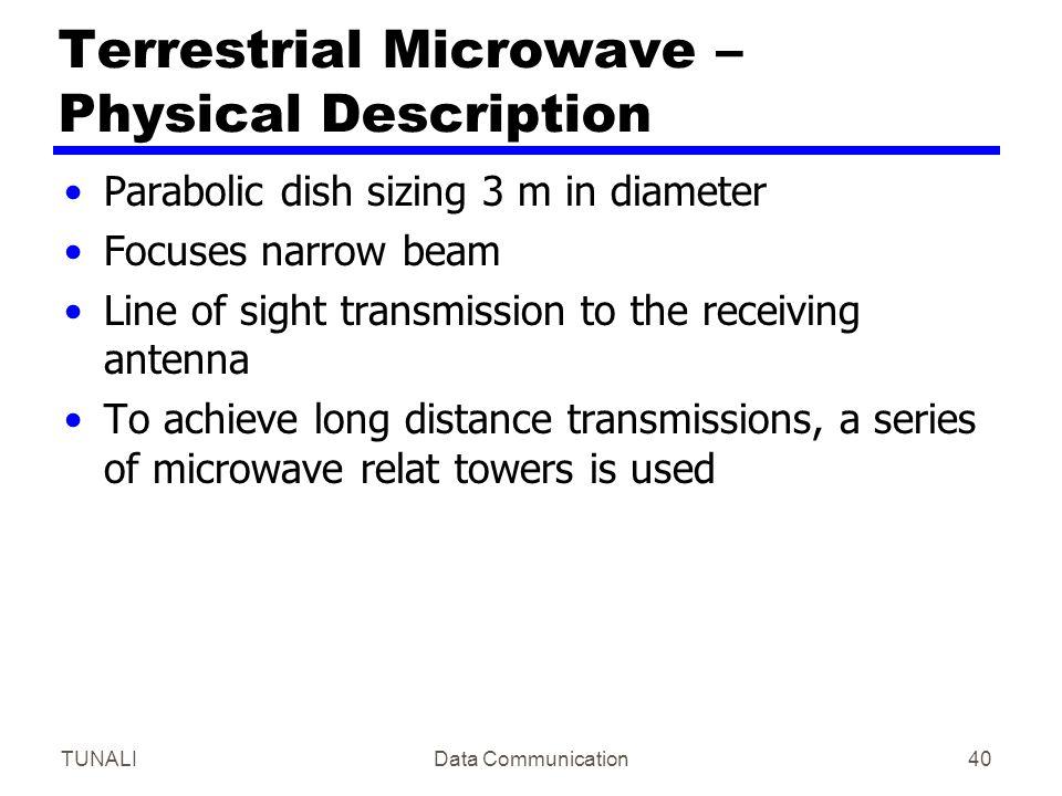 Terrestrial Microwave – Physical Description