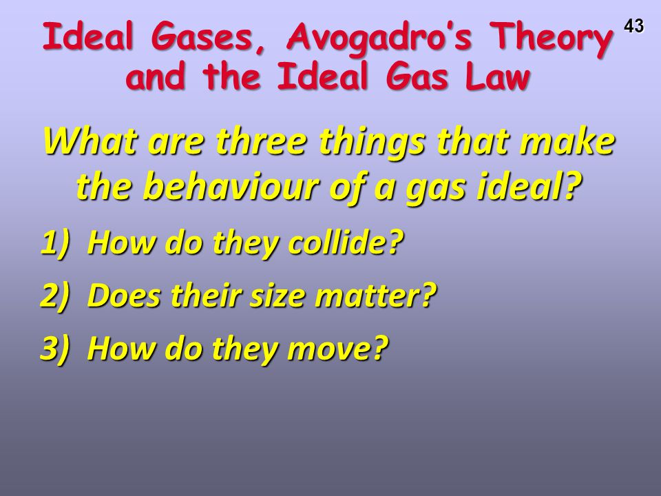 Ideal Gases, Avogadro's Theory and the Ideal Gas Law