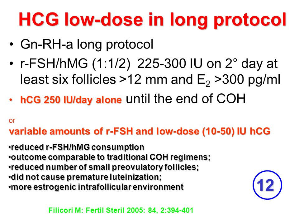 HCG low-dose in long protocol