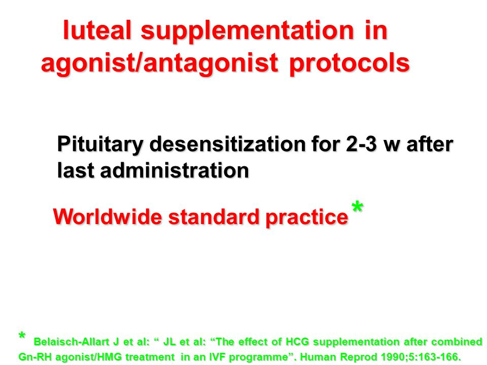 luteal supplementation in agonist/antagonist protocols