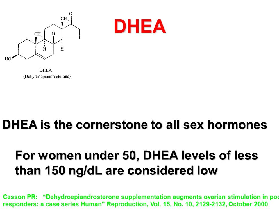 DHEA DHEA is the cornerstone to all sex hormones
