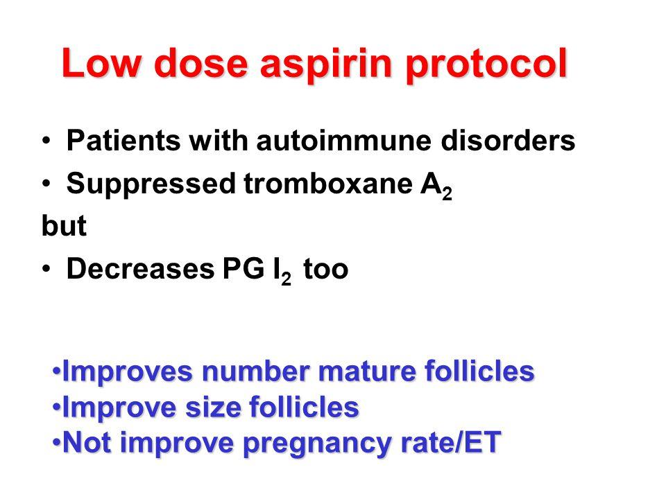 Low dose aspirin protocol