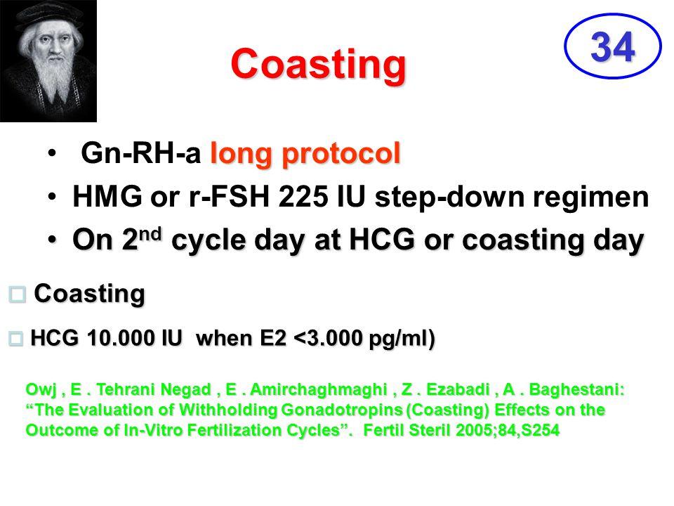 34 Coasting Gn-RH-a long protocol