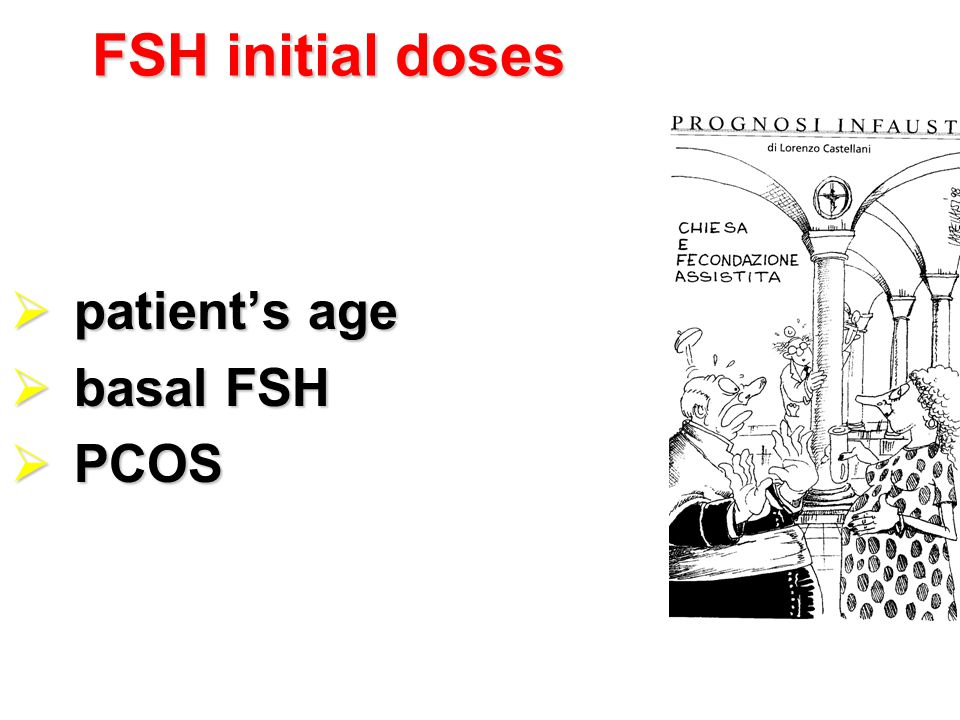 FSH initial doses patient's age basal FSH PCOS
