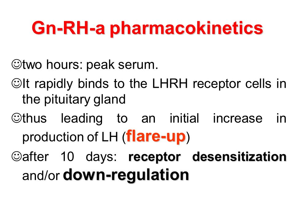 Gn-RH-a pharmacokinetics