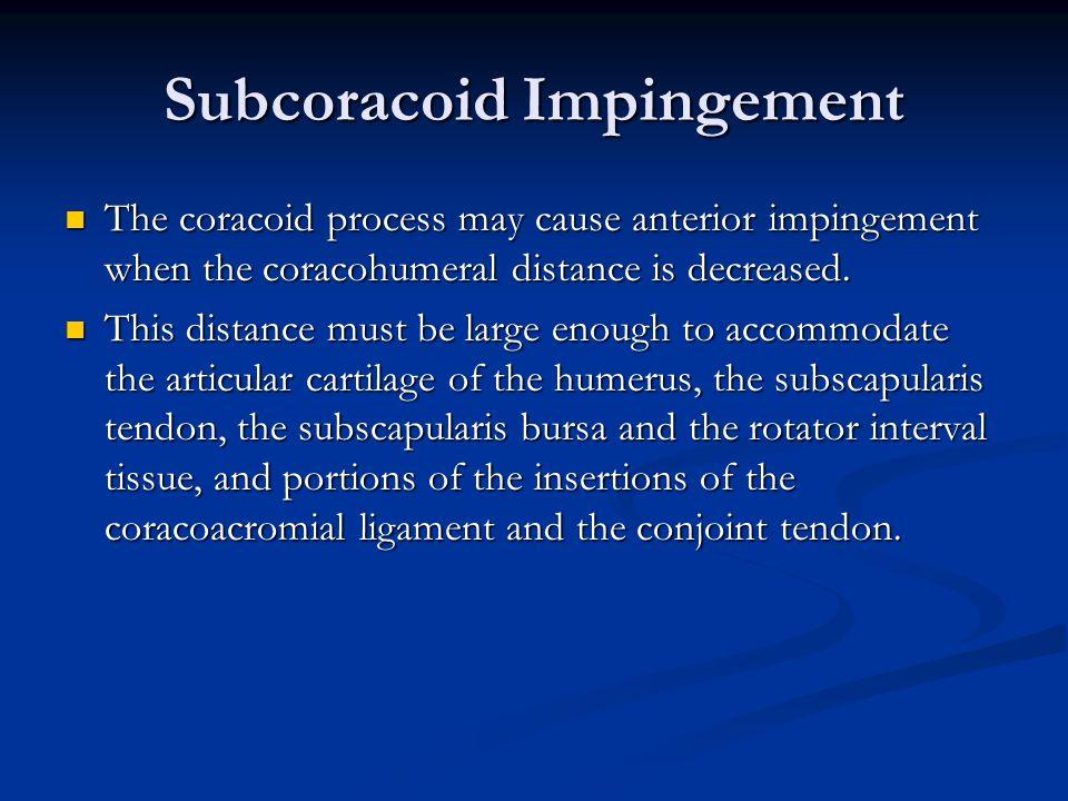 Subcoracoid Impingement