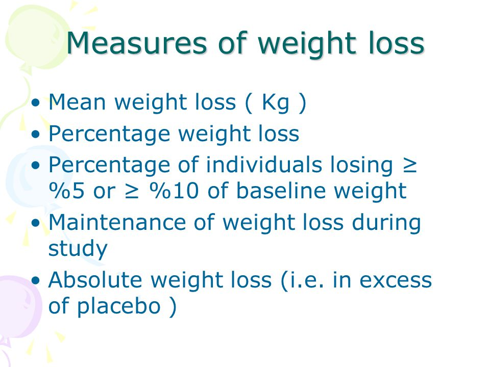 Measures of weight loss
