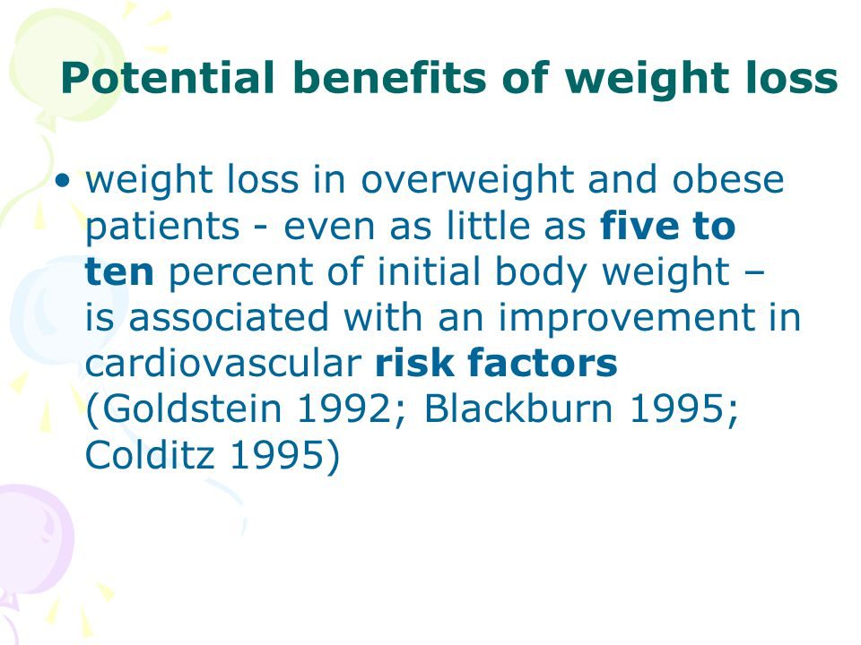 Potential benefits of weight loss