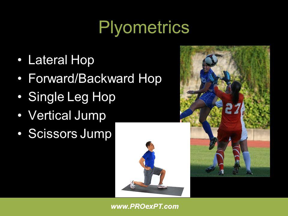 Plyometrics Lateral Hop Forward/Backward Hop Single Leg Hop