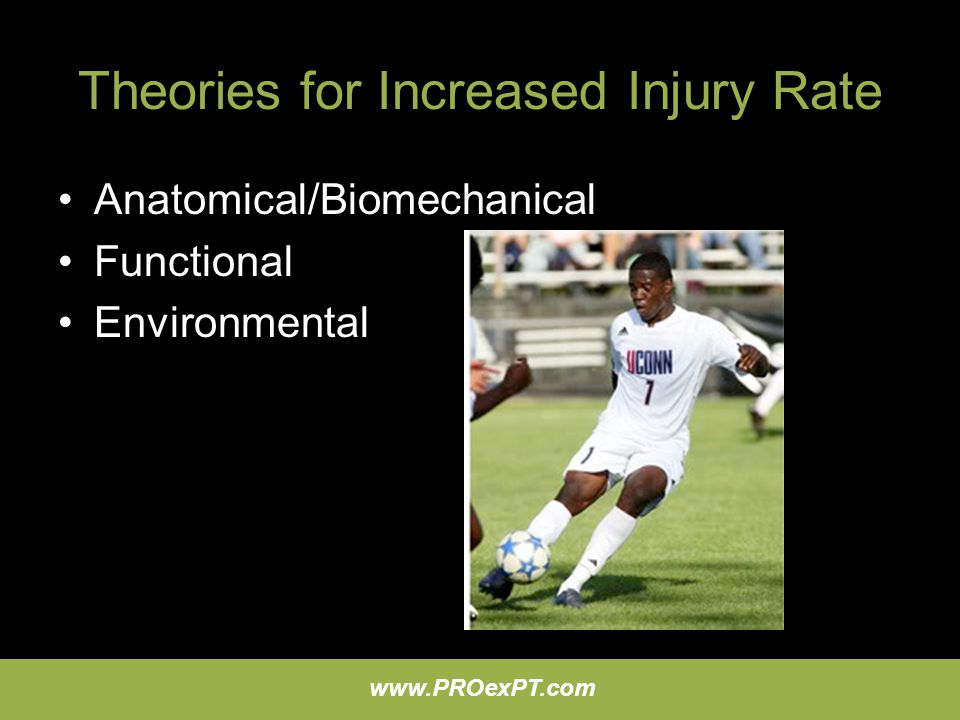 Theories for Increased Injury Rate