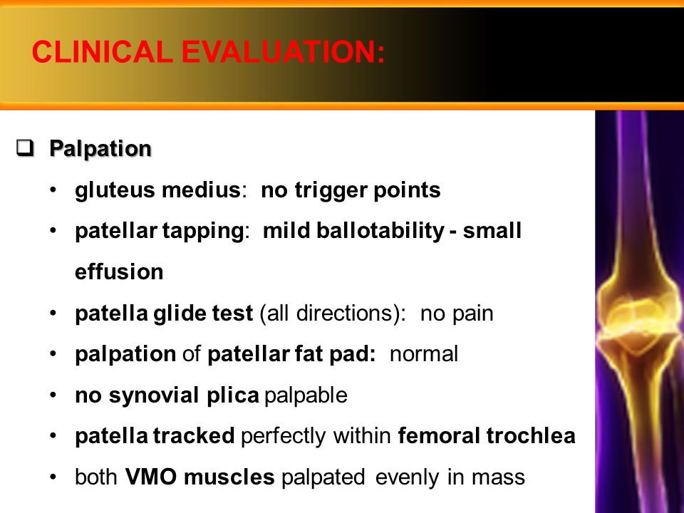 CLINICAL EVALUATION: Palpation gluteus medius: no trigger points