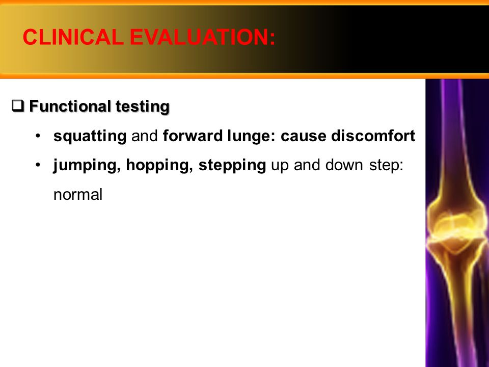CLINICAL EVALUATION: Functional testing