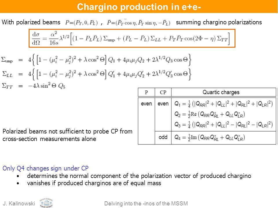 Chargino production in e+e-