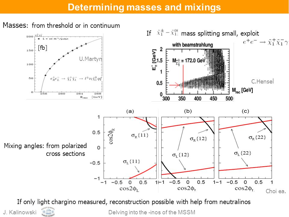 Determining masses and mixings