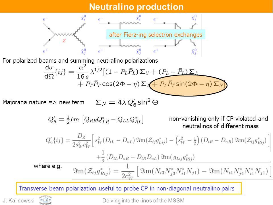 Neutralino production