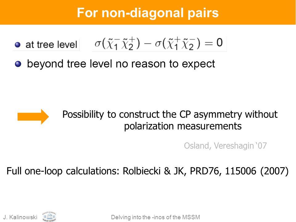 For non-diagonal pairs