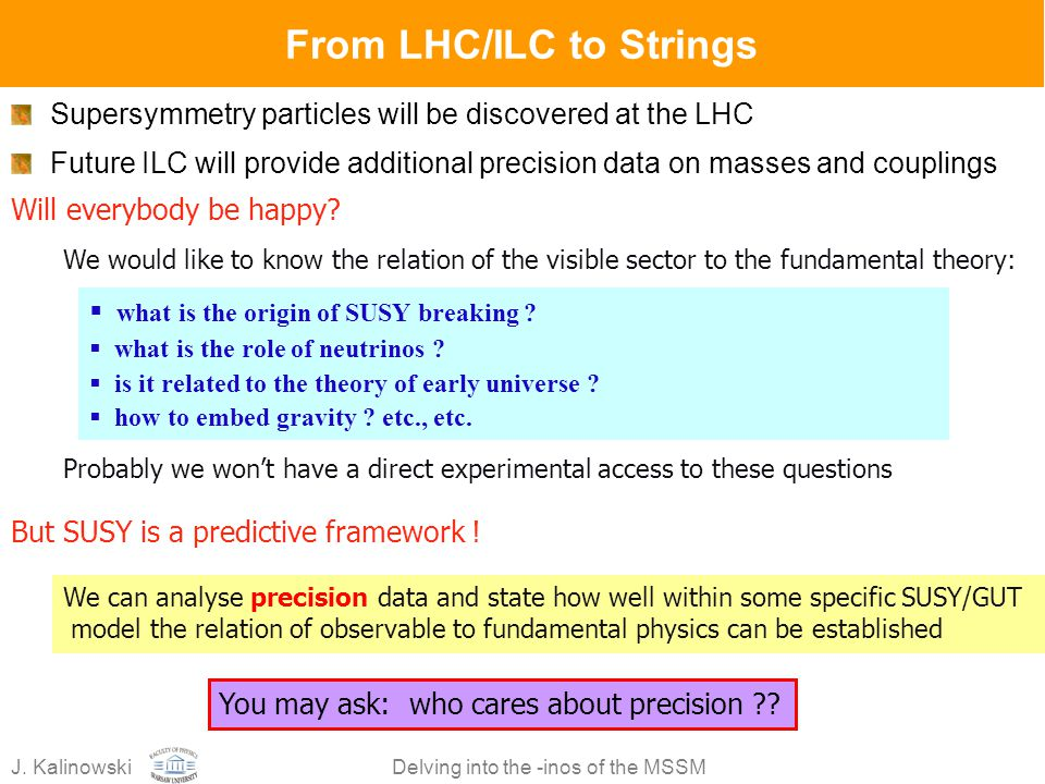 From LHC/ILC to Strings