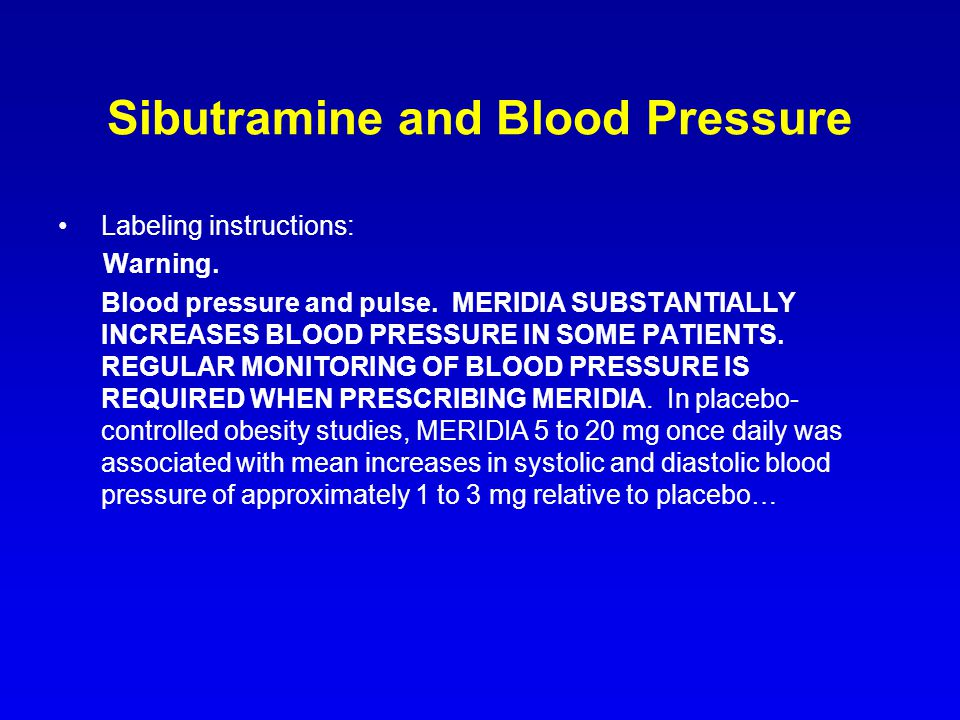 Sibutramine and Blood Pressure