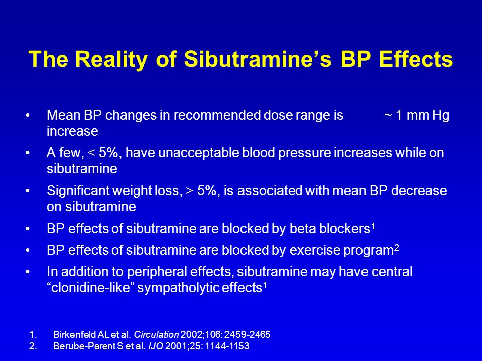 The Reality of Sibutramine's BP Effects
