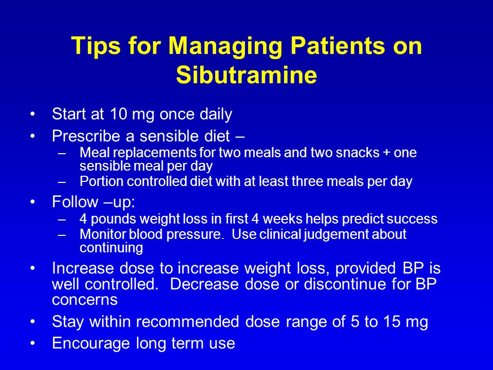 Tips for Managing Patients on Sibutramine