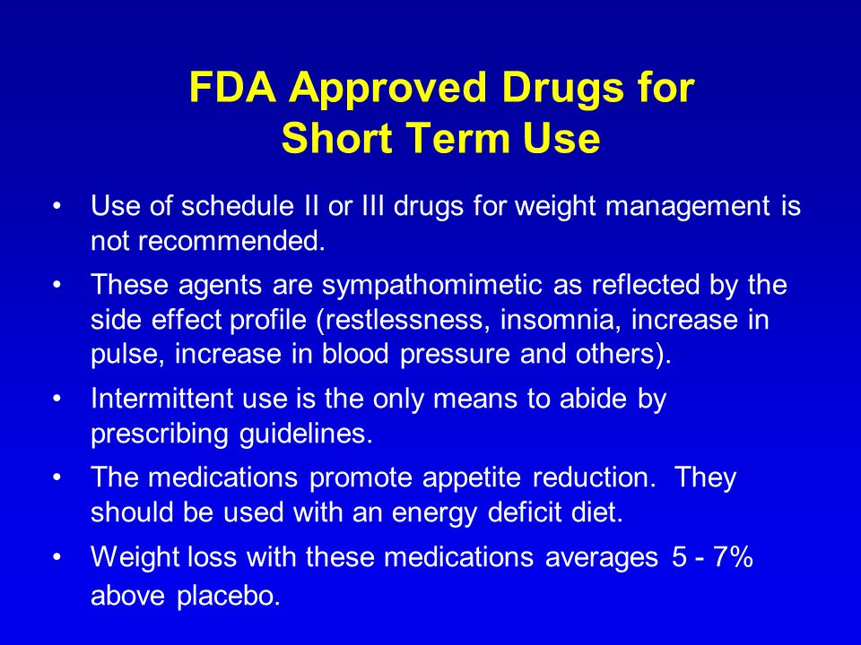 FDA Approved Drugs for Short Term Use