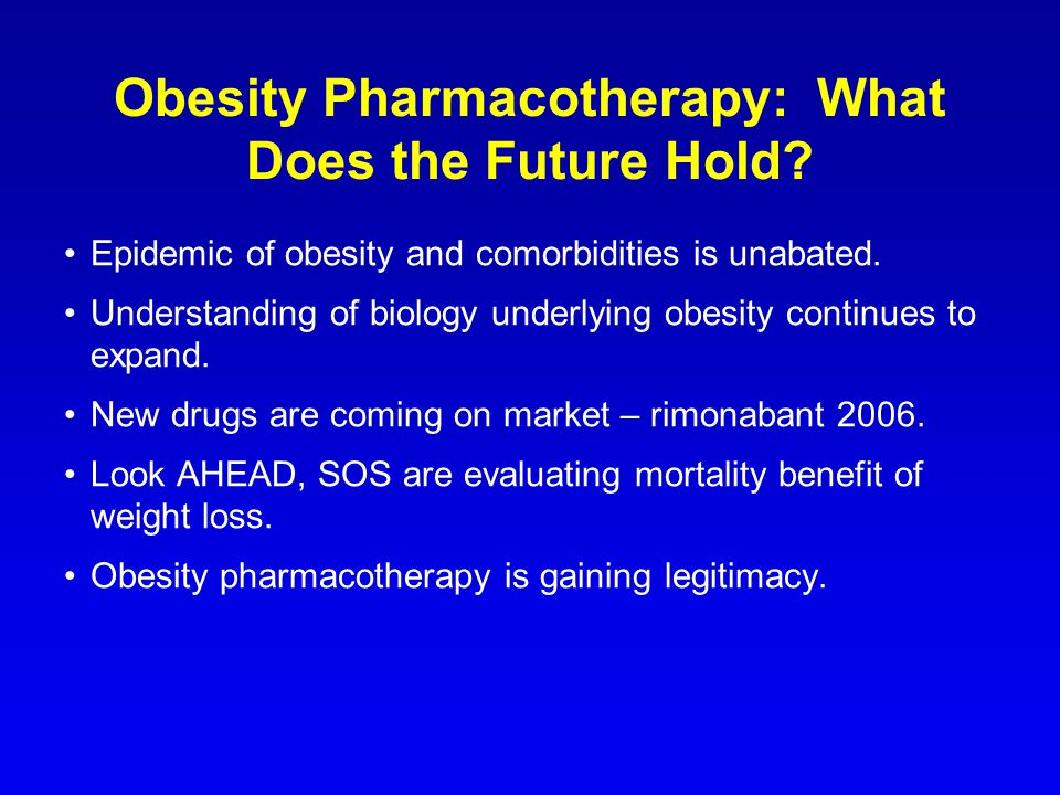 Obesity Pharmacotherapy: What Does the Future Hold