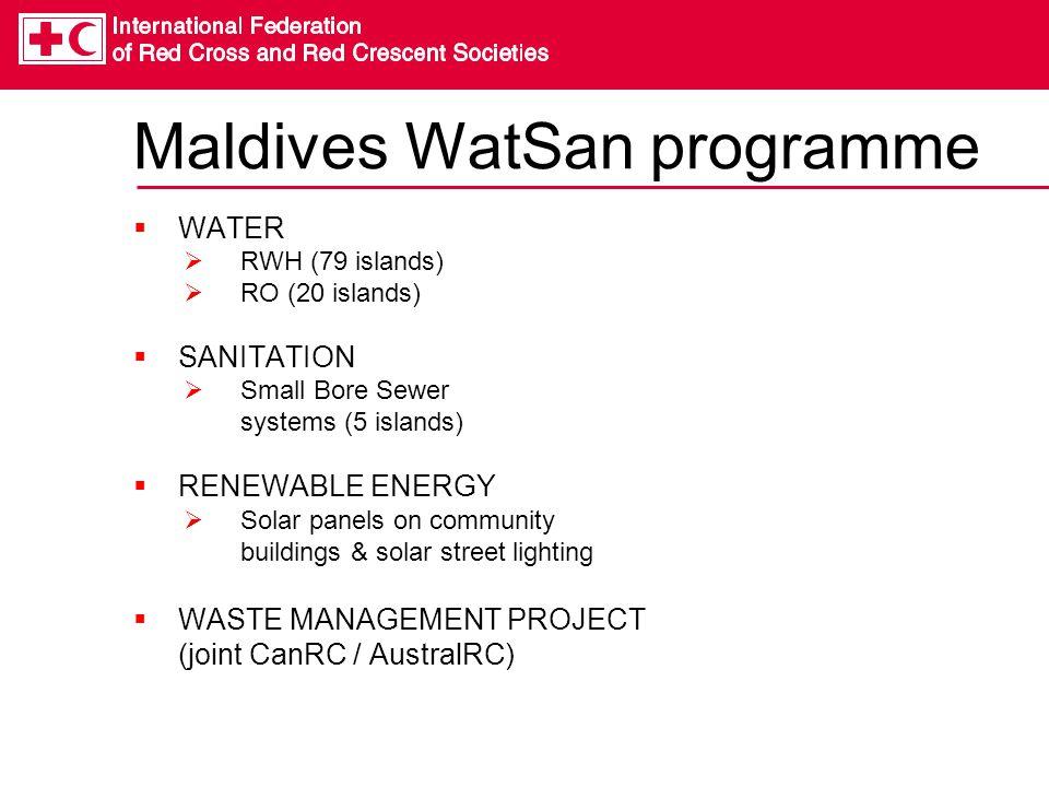Maldives WatSan programme