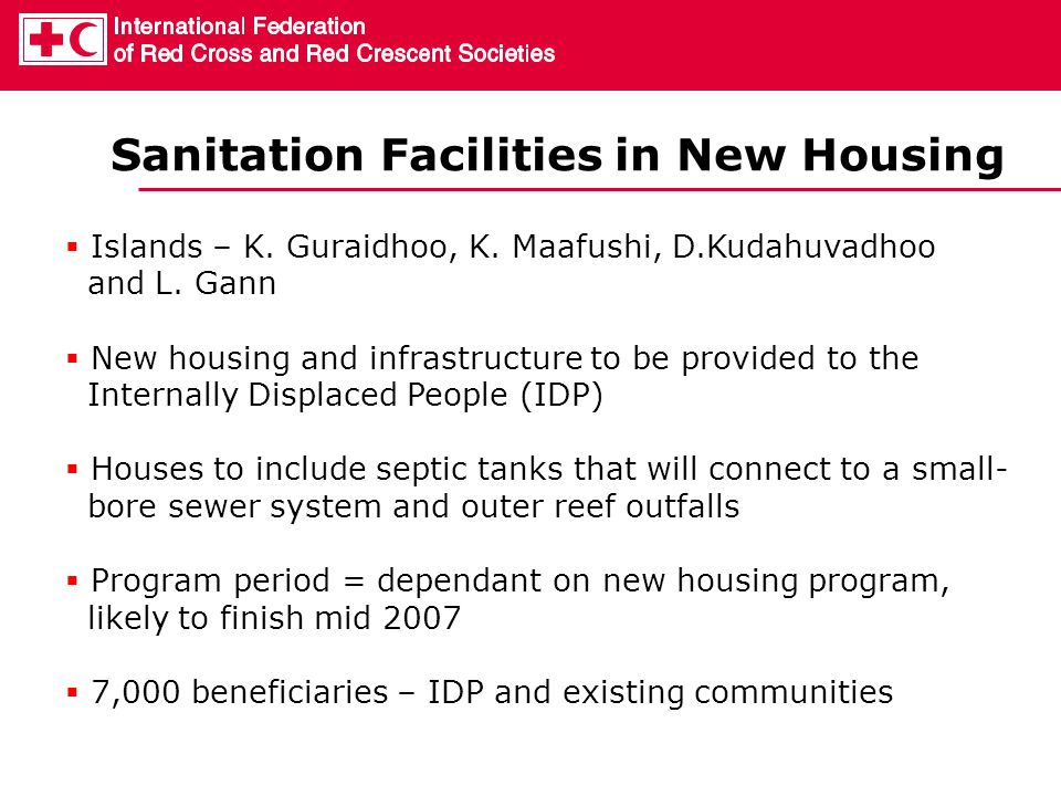 Sanitation Facilities in New Housing