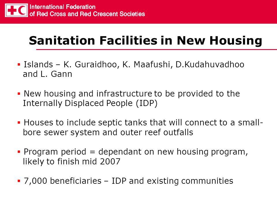 Sanitation Facilities in New Housing