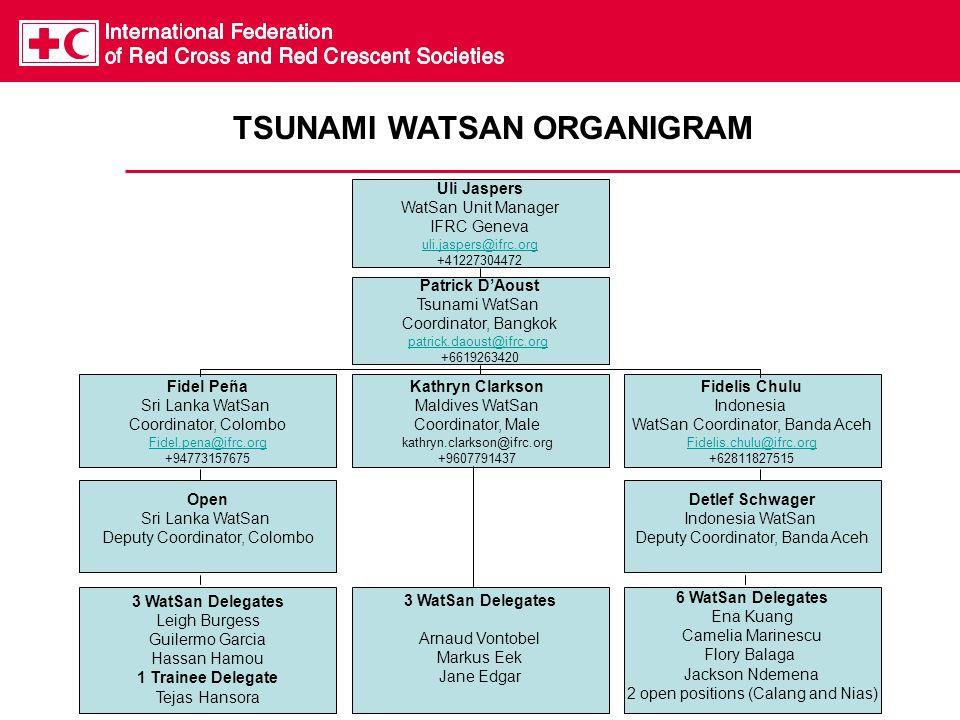 TSUNAMI WATSAN ORGANIGRAM