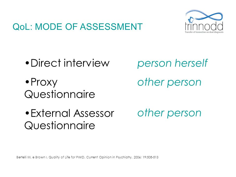 External Assessor Questionnaire person herself other person
