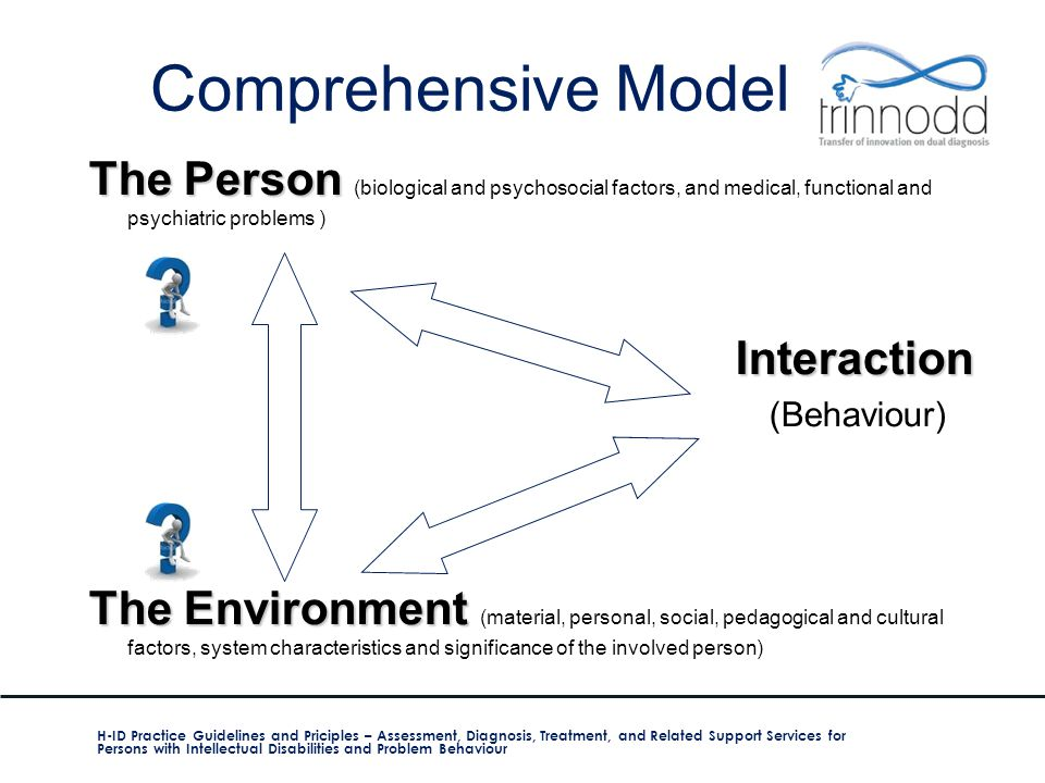 Comprehensive Model The Person (biological and psychosocial factors, and medical, functional and psychiatric problems )
