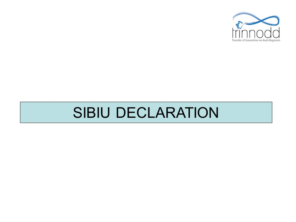SIBIU DECLARATION FOR-PRO-004 Présentation v.01 – 05/01/2009 41