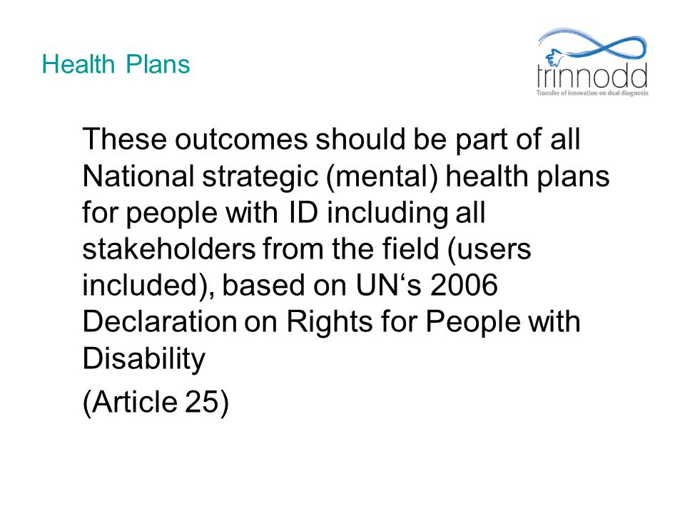 (Article 25) Health Plans