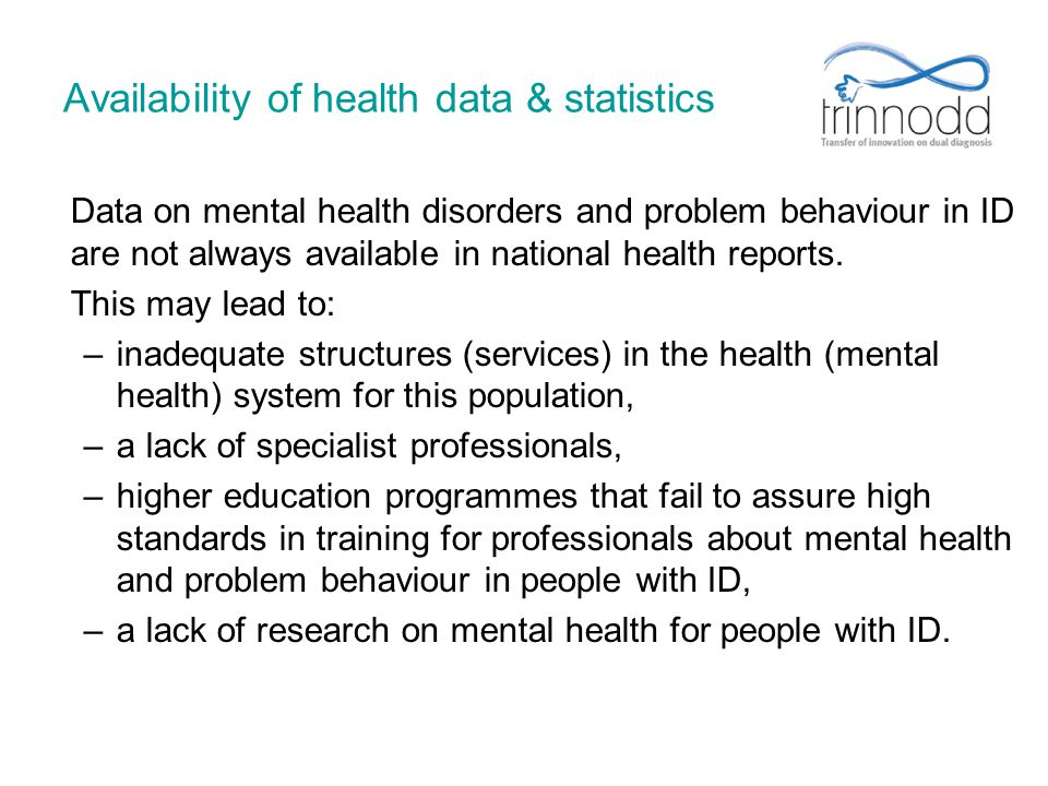 Availability of health data & statistics