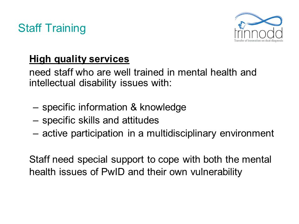 Staff Training High quality services