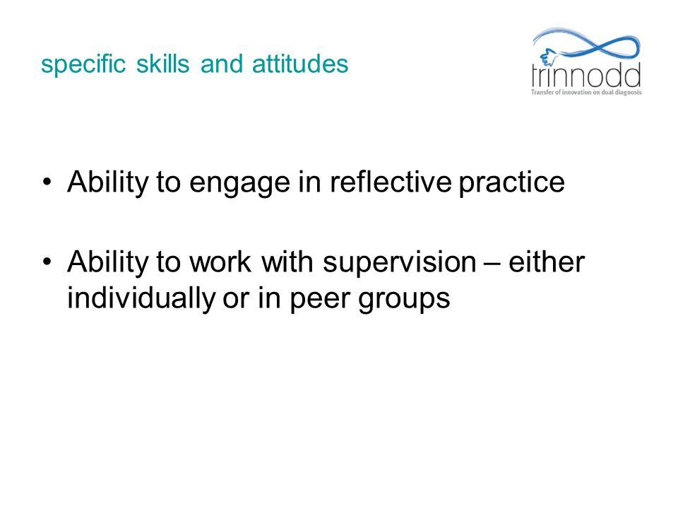 specific skills and attitudes