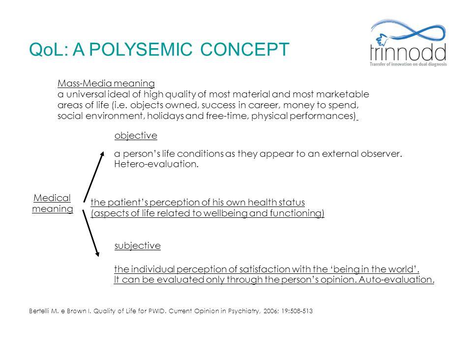 QoL: A POLYSEMIC CONCEPT