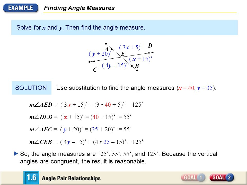 • B Finding Angle Measures